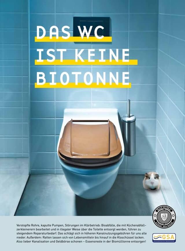 Flugblatt WC ist keine Mülltonne